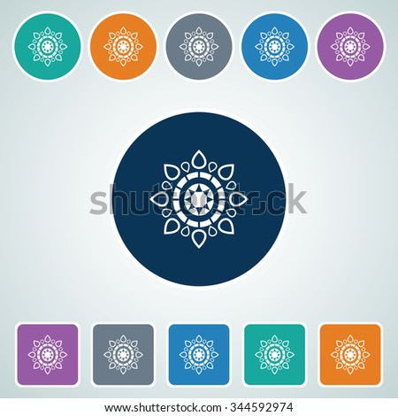 Icon of Design Element in Multi Color Circle & Square Shape. Eps-10. - stock vector