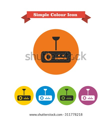 Icon of digital projector - stock vector