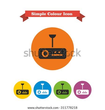 Icon of digital projector - stock vector