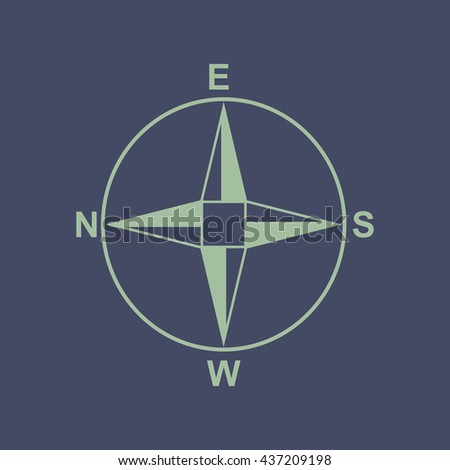 Icon of Direction Compass. Eps-10.