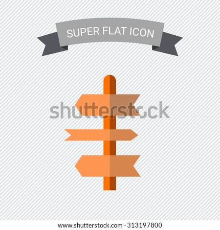 Icon of direction sign in circle - stock vector
