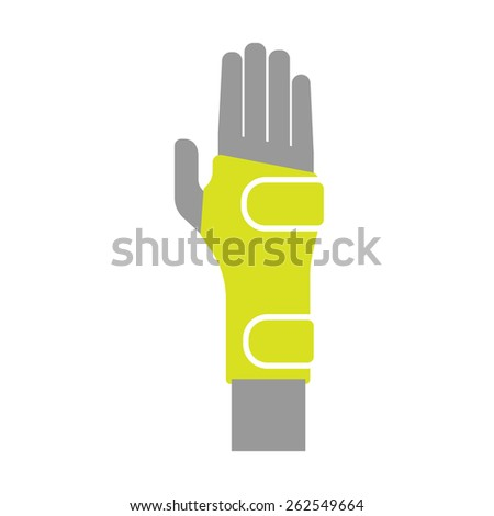 Icon of Elastic Orthopedic Compression Bandage for Wrist Isolated on White Background. Vector Illustration - stock vector