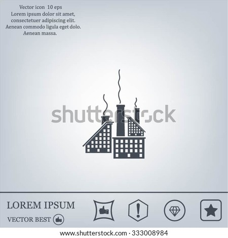 icon of factory. Vector illustrator EPS 10