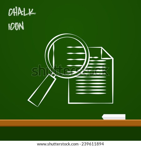 icon of find document - stock vector