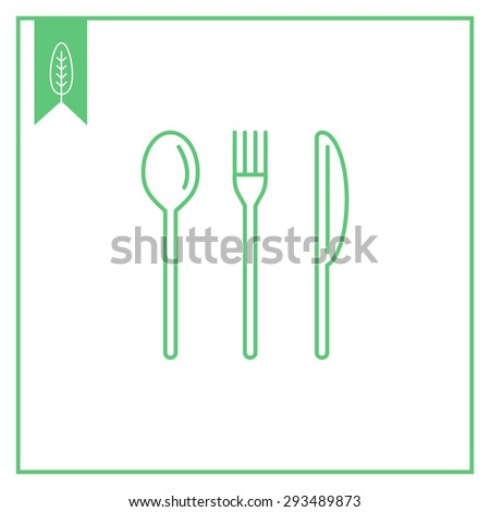 Icon of fork, knife and spoon