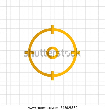 Icon of gun sight in circle - stock vector