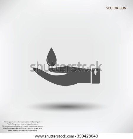 Icon of hands drop of water