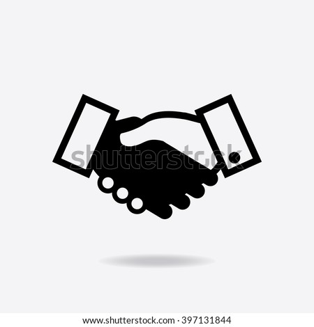 Icon of handshake sign. Business agreement handshake icon. Background for business and finance - stock vector