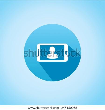 Icon of horizon phone - stock vector