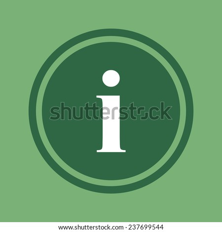 icon of info on green background, vector, 10 EPS - stock vector