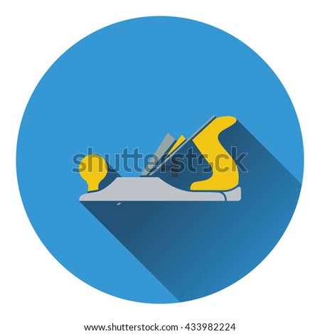 Icon of jack-plane. Flat design. Vector illustration. - stock vector