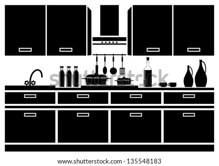 icon kitchen vector stock vector 135548183 - shutterstock
