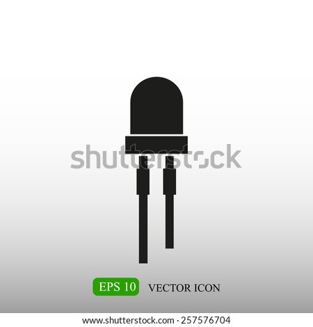 icon of led - stock vector