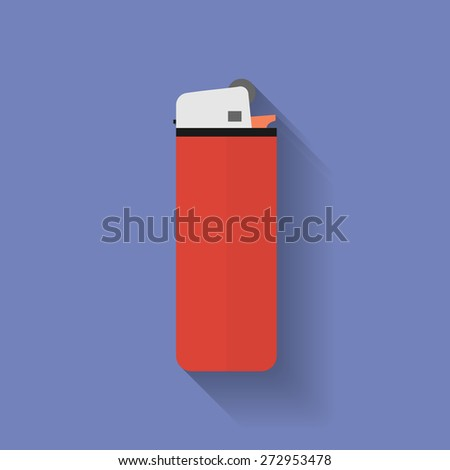 Icon of lighter. Flat style - stock vector