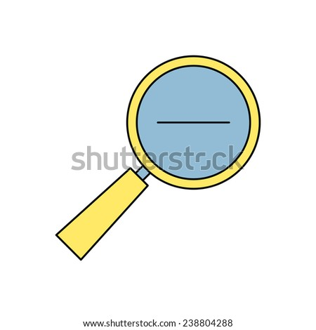 icon of loupe - stock vector