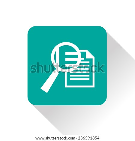 icon of lupe document - stock vector