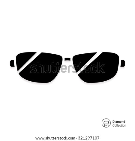 Icon of men sun glasses