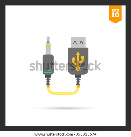 Icon of mini USB to jack cable
