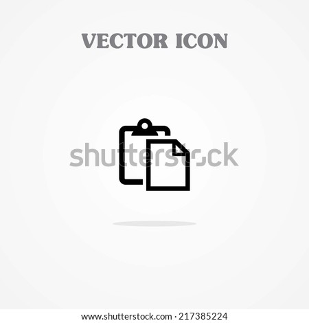 Icon of Paste  - stock vector