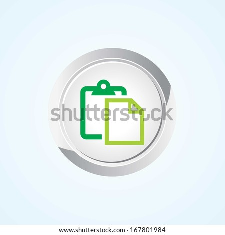 Icon of Paste on Button. Eps-10.  - stock vector
