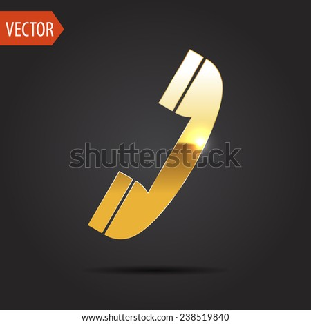 icon of phone - stock vector