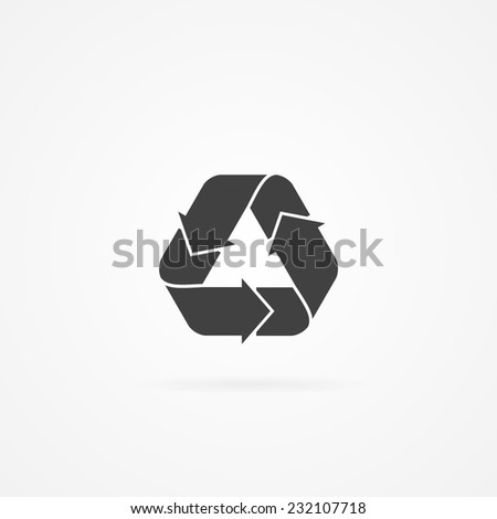 Icon of recycle.