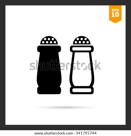 Icon of salt and pepper shakers