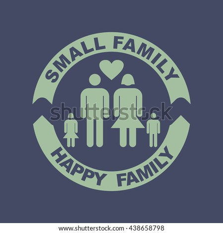 Icon of Small Family. Eps-10. - stock vector