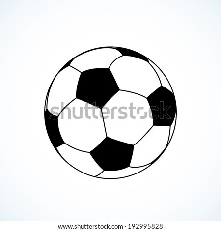 Icon of soccer ball. - stock vector