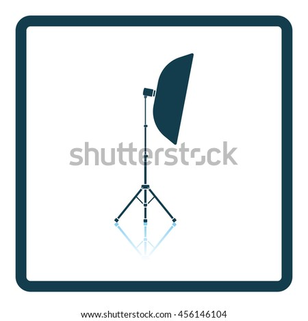Icon of softbox light. Shadow reflection design. Vector illustration. - stock vector
