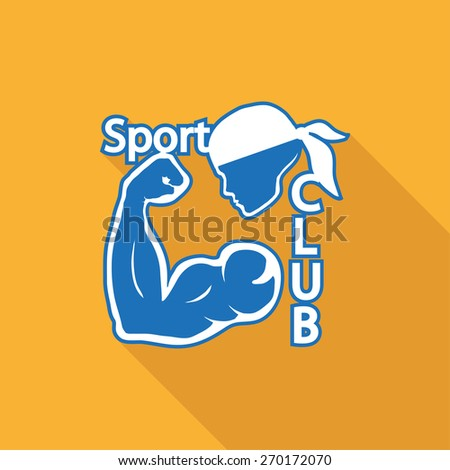 Icon of sports club logo. Isolated on white background. Modern vector illustration for web and mobile. - stock vector