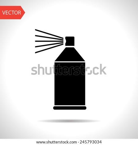 icon of spray paint - stock vector