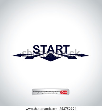 icon of start-up  - stock vector