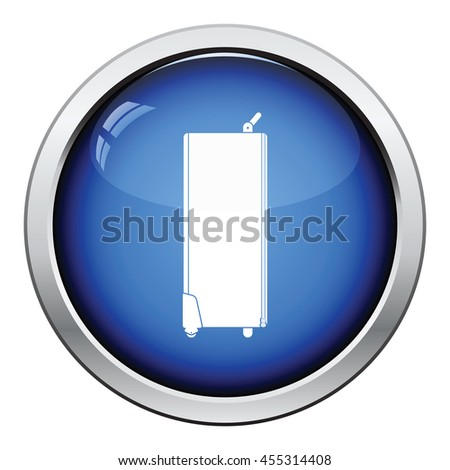 Icon of studio photo light bag. Glossy button design. Vector illustration. - stock vector