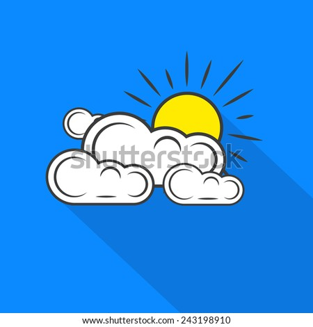 Icon of sun clouds weather.