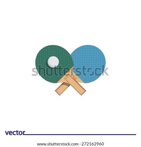Icon of table tennis. Isolated on white background. Modern vector illustration for web and mobile. - stock vector