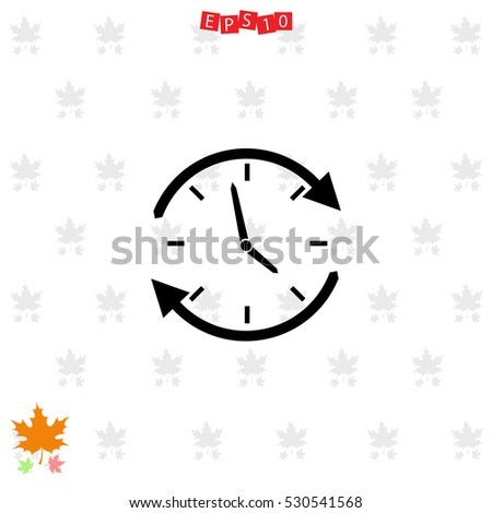 Pocket Watch On Light Background Maple Stock Vector ...