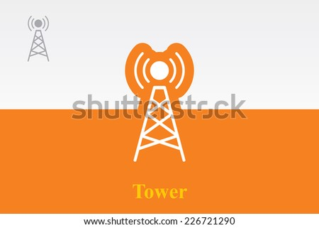 Icon of tower. Eps.-10. - stock vector