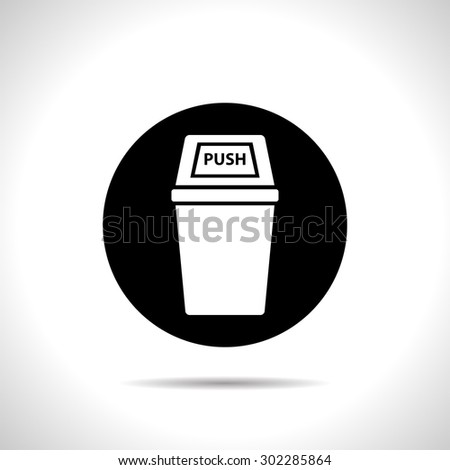 icon of trash can - stock vector