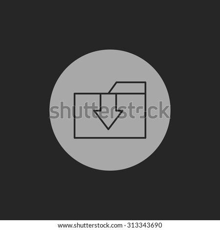 icon of upload folder - stock vector