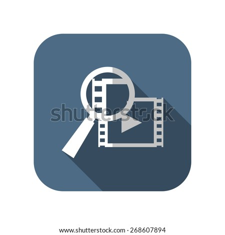 icon of video search - stock vector