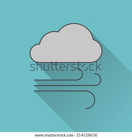 icon of wind - stock vector