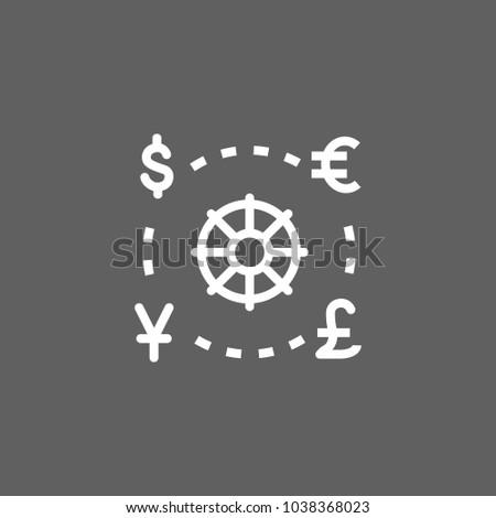 Icon World Currencies Money Finance Symbols Stock Vector 1038368023