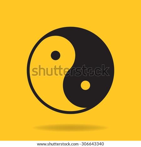 Icon of Yin Yang symbol - stock vector