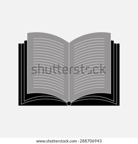 icon open book, learning, reading, fully editable vector image