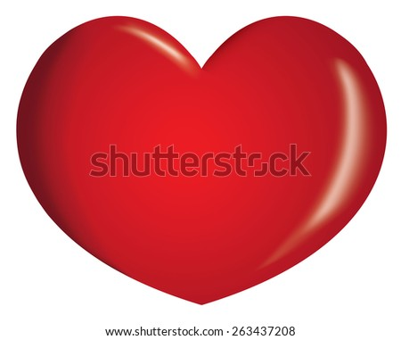 Icon or symbol of a heart. Ideal for informational and institutional related to love or boyfriend - stock vector