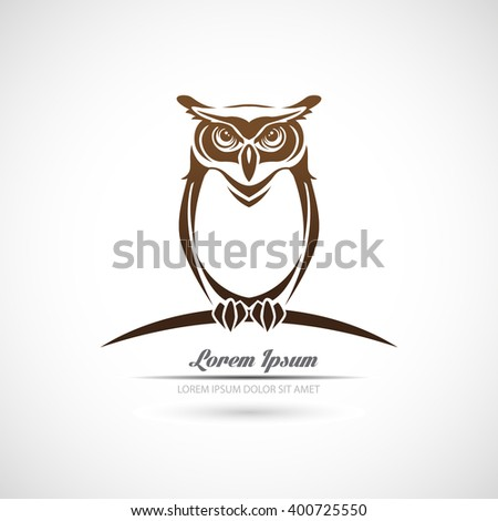 Icon owl on a white background. - stock vector