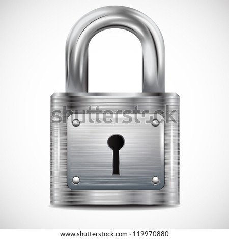 icon padlock, metal structure - stock vector
