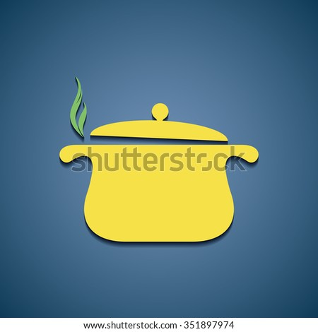 Icon pan for cooking. Stock vector illustration. - stock vector