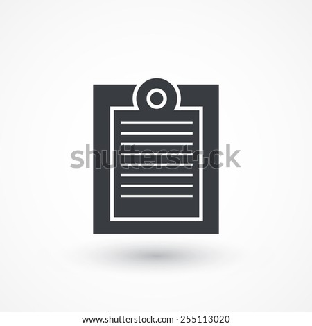 Icon Paste - stock vector